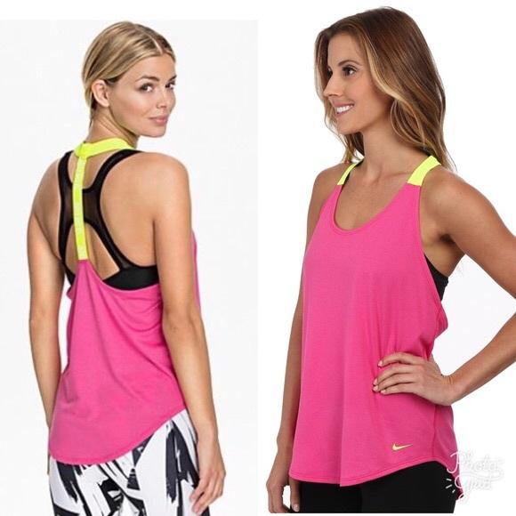 0d5fe92dc35d7 Nike Dri-Fit Elastika Tank Top Pink grey green. M 5b7235d8d6dc5271dab299a7